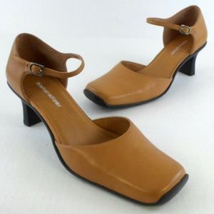 Naturalizer Leather Mary Janes Heels sz 10 SR